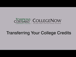 Transferring Your College Credit Tompkins Cortland