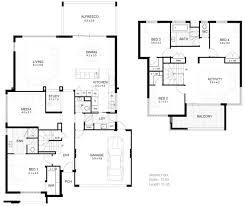 modern 2 story house floor plans elegant simple small 2 y house plan 4 home ideas