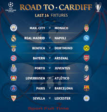 the draw for the 2016 17 season of uefa champions league round of last 16 took place in france nyon on monday 12 december