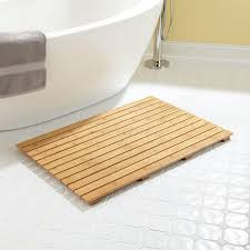 bathroom stylish teak bath mat for indoor and outdoor shower decor brahlersstop com