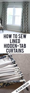 sew your own blackout lined back tab curtains easy straightforward step