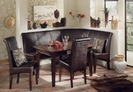 Kitchen Booth Furniture Vintage Corner Kitchen Booth With Trendy Carving Chairs And Brown