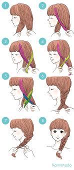 今覚えよう超基本のフィッシュボーンの編み方イラスト付きー髪のお