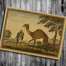 Small Picture Hot sale India camel print painting kraft paper vintage home decor