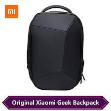 Original <b>Xiaomi Geek Backpack</b> Geometric Splicing Reflective ...