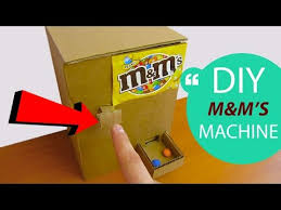 How To Make A Candy Vending Machine Out Of Cardboard Gorgeous How To Make MM's Candy Machine At Home HomeCraft YouTube