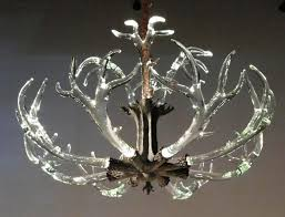 antler chandelier with crystals home design faux