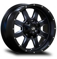 RTX Off Road Wheels - RIDGELINE - Black Pickup Truck Rims