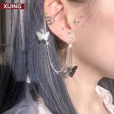 Buy <b>1pc Butterfly</b> Earstuds Ear Bone Clip Cool Girl Boy Korea New ...