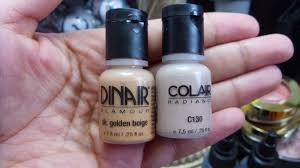 Dinair Foundation Color Chart Iheartairbrush Colair First Impression Of Dinairs Newest