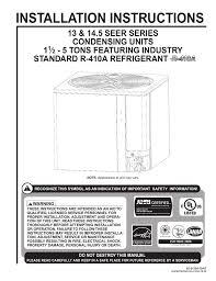 Rheem R 410a Specifications Manualzz Com