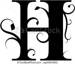 H C Shield Crete Color Chart Floral Letter H