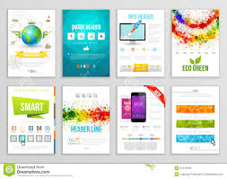 paint stock photos images pictures images set of flyer brochure background banner designs vector poster templates paint
