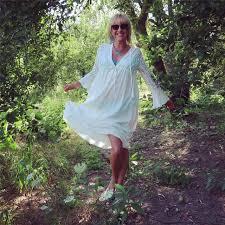 Online Shop <b>Boho Deep V Neck</b> Hollow Out Long Dress Women ...