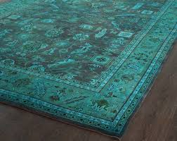 awesome turquoise area rug 8x10 envialette regarding aqua
