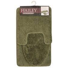 Hailey 3 Piece Bathroom Rug Set Bath Mat Contour Rug Toilet Seat Lid Cover Olive Walmart Com Walmart Com