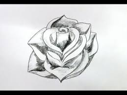 Small Picture How To Draw A Rose Flower Step By Step Very Easy Method YouTube