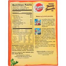 Mix everything and add flour mix everything; Panni Bavarian Potato Pancake Mix 6 63 Ounce 12 Per Case