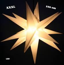 Großer 3d Weihnachtsstern ø 100 Cm Rotweiß Adventsstern