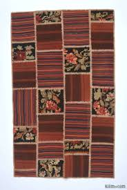 multicolor turkish patchwork kilim rug 4 4 x 7 1 52 in x 85 in