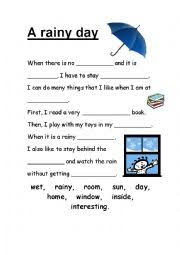 essay rainy day a rainy day essay for kids