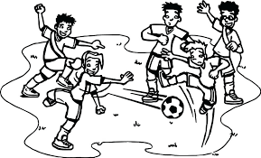 Soccer Coloring Pages Playing General Players Printable