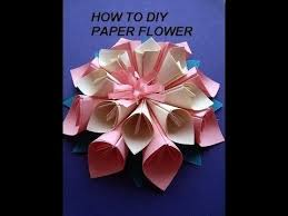 paper flower kanzashi how to diy paper crafts wall decor paper throughout art and craft ideas for making flowers