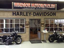 model of an old harley davidson repair shop picture of canadian