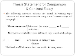 compare and contrast essay for college example of comparing and contrasting essay contrast comparison essay