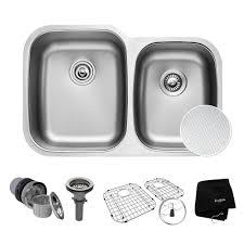 stand alone kitchen sink inspirational kraus undermount stainless steel 32 in double bowl kitchen sink kit