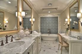 traditional master bathroom. 2 Tags Traditional Master Bathroom With Wall Sconce, Inset Cabinets, Complex Marble, Flat Panel Cabinets I