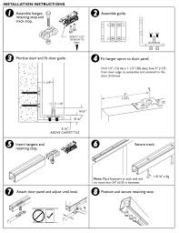 sliding door with above carpet tile bottom guide installation instructions