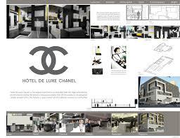 missie ma design chanel hotel guest room architecture presentation board