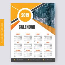 one page calender one page calendar 2019 vector premium download