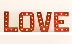 valentine marquee letters