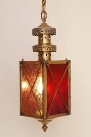 Details About Unique Art Nouveau Flurlaterne Ceiling Lamp Pendant Light Brass Eisblumenglas