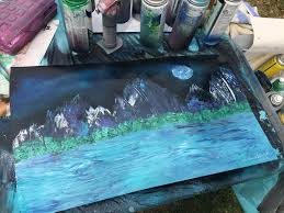 a warm up painting for the start of the 2018 spray paint season by adria black