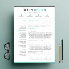 One Page Resume Template Inspiration 28 One Page Resume Templates Free Premium Templates
