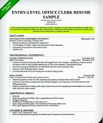 11 12 Office Clerk Resume No Experience Lascazuelasphilly Com