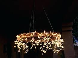 homemade lighting ideas. Full Size Of Diy Outdoor Chandelier With Solar Lights Made From A Hula Hope And Icicle Homemade Lighting Ideas