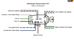 vw bug wiring diagram 4 prong flasher schematic diagram 1969 vw beetle turn signal wiring diagram at Vw Bug Signal Switch Wiring Diagram