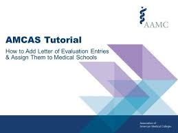 Amcas Tutorial How To Add Letter Of Evaluation Entries Assign