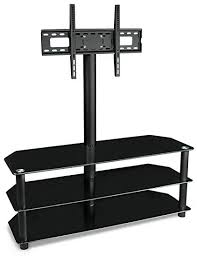 Tv stand and mount Integrated Mount Image Unavailable Amazoncom Amazoncom Mountit Tv Stand With Mount And Glass Shelves For