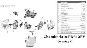garage door opener partsReplacement Parts for Chamberlain Chain Drive Garage Door Openers