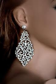 big bridal earrings swarovski crystal earrings wedding chandelier earrings statment earrings large earrings kamilita listing stats