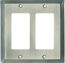 art switch plate brushed nickel covers awesome light plates satin inspiration polished p home depot