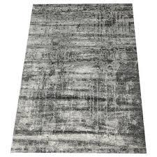 grey majestic eraser bamboo silk rug