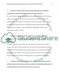 advantages and disadvantages of assistive technologies essay advantages and disadvantages of assistive technologies essay example