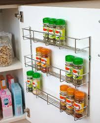 cupboard door mounted e rack andrew james three tier e rack and bottle holder