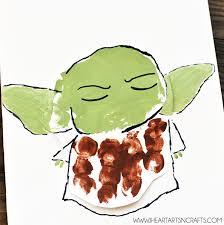 yoda best dad handprint star wars father s day card